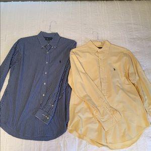 2 Shirt Bundle BRALPH LAUREN Mens Dress Shirt